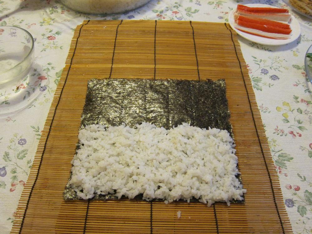 Раскладываем рис