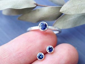 Комплекты кольцо + серьги из серебра с натуральными камнями. Ярмарка Мастеров - ручная работа, handmade.