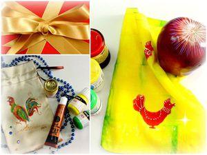 Видео мастер-класс: рисуем петуха на подарочных мешочках. Ярмарка Мастеров - ручная работа, handmade.