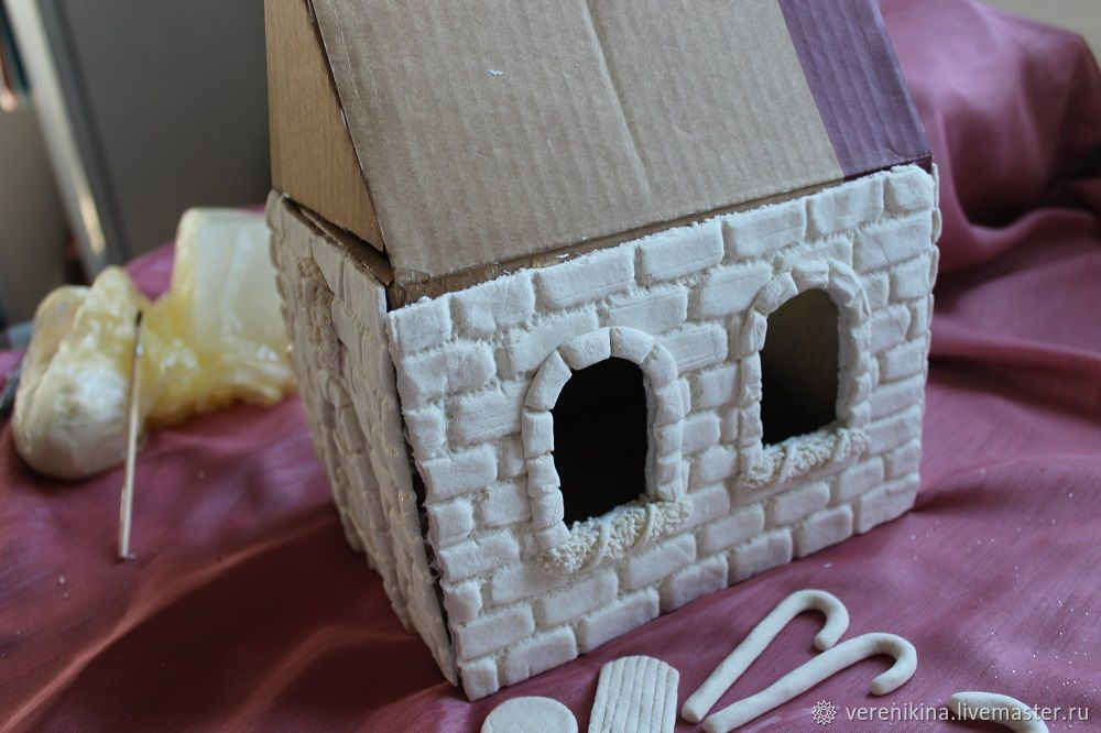 Пряничный домик из соленого теста своими руками фото 412