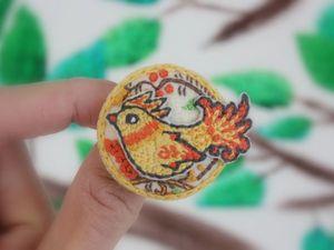 Вышиваем гладью славянскую брошь «Птица счастья». Ярмарка Мастеров - ручная работа, handmade.