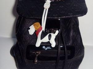 Закрепление готового изделия на сумку.. Ярмарка Мастеров - ручная работа, handmade.