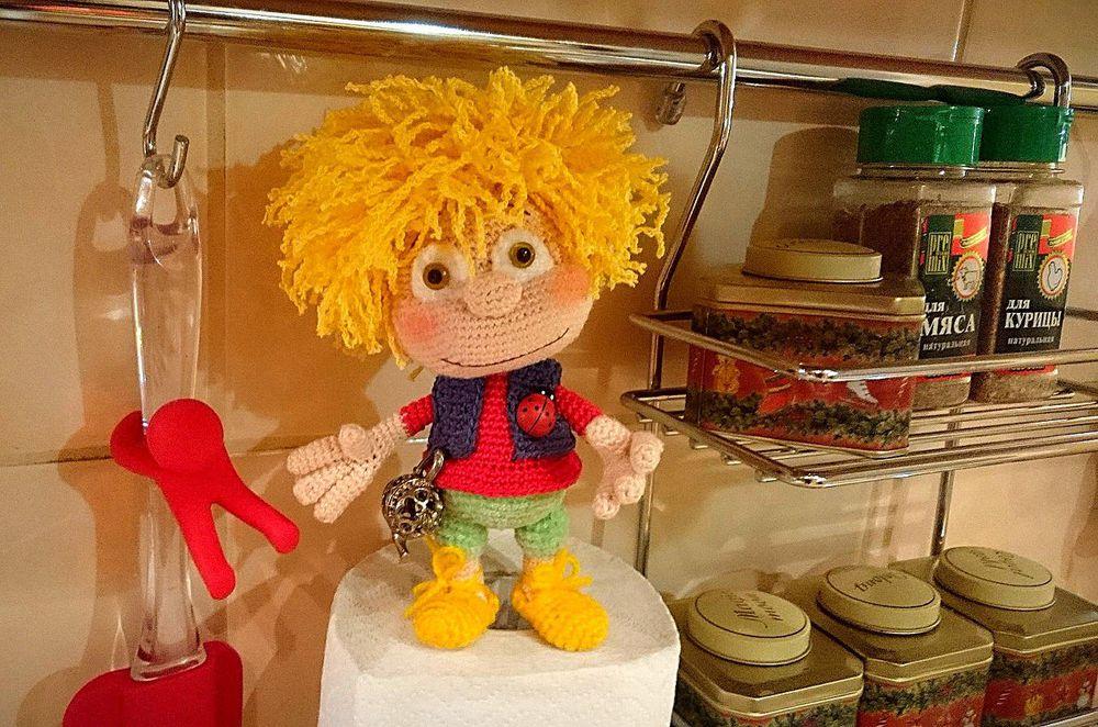 авторская игрушка, домовенок, домовой, амулет, интерьерная игрушка, вязаная игрушка, для интерьера, для дома