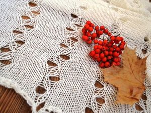 Третий аукцион: пуховый шарф из белоснежной ангоры. Ярмарка Мастеров - ручная работа, handmade.