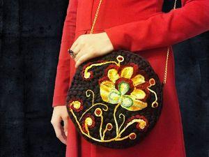 Декорируем сумочку хохломской росписью в технике ирладского кружева. Ярмарка Мастеров - ручная работа, handmade.