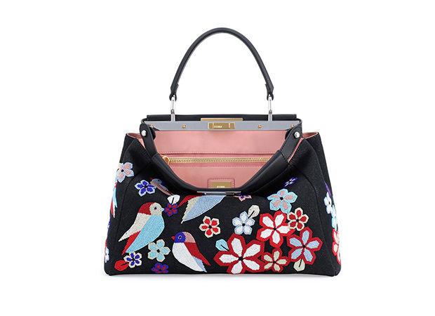 модная сумочка, вышитые птицы на сумке