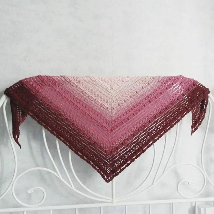шаль, описание вязания шали