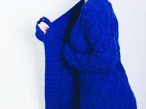 Лазурно-синий жакет Blue Hortensi в классическом стиле. Ярмарка Мастеров - ручная работа, handmade.