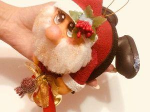 Изготавливаем новогоднюю игрушку Санта. Ярмарка Мастеров - ручная работа, handmade.