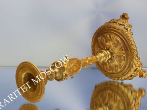 РАРИТЕТИЩЕ Подсвечник ангел бронза золото 48   Ярмарка Мастеров - ручная работа, handmade