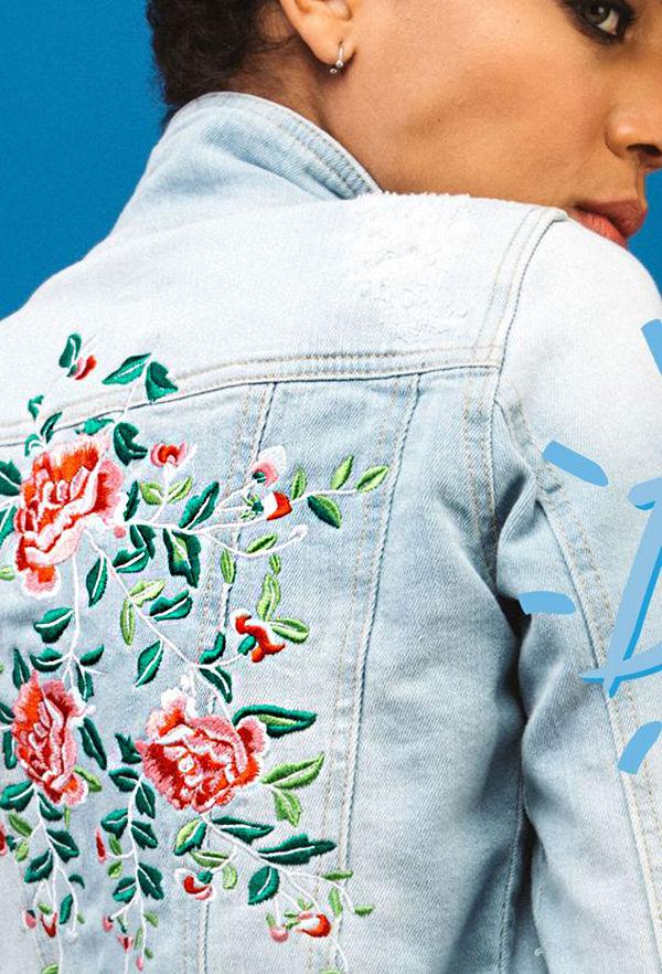 Многообразный декор джинсовых курток: 50 интересных вариантов, фото № 49