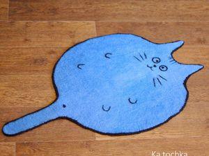 Новинка! Коврик-кот для вашего питомца. Ярмарка Мастеров - ручная работа, handmade.