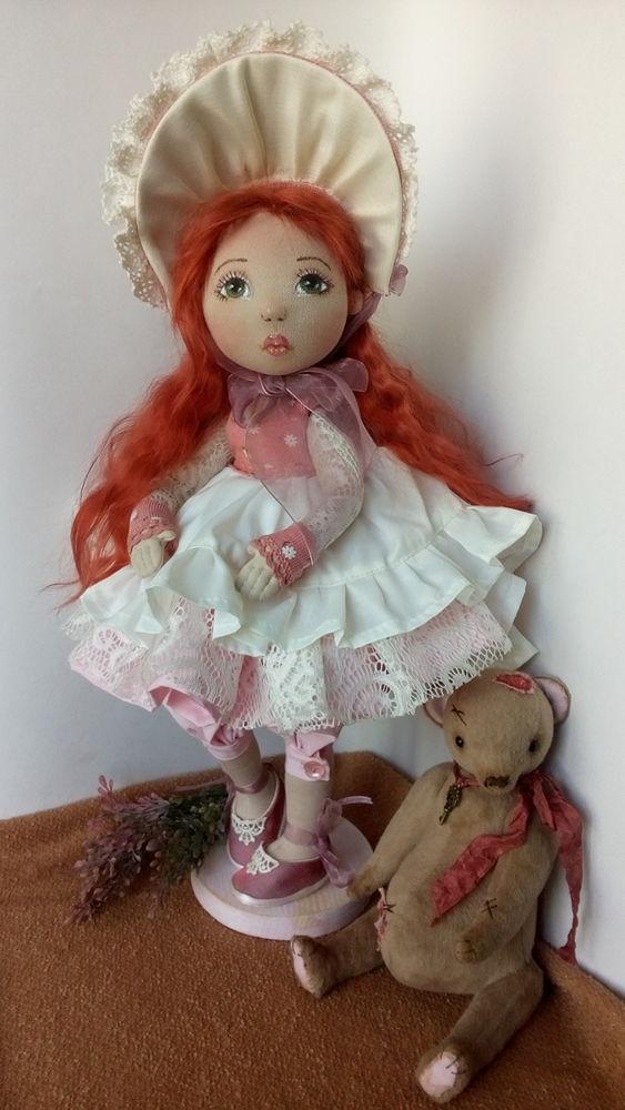 кукла ручной работы, мишки тедди