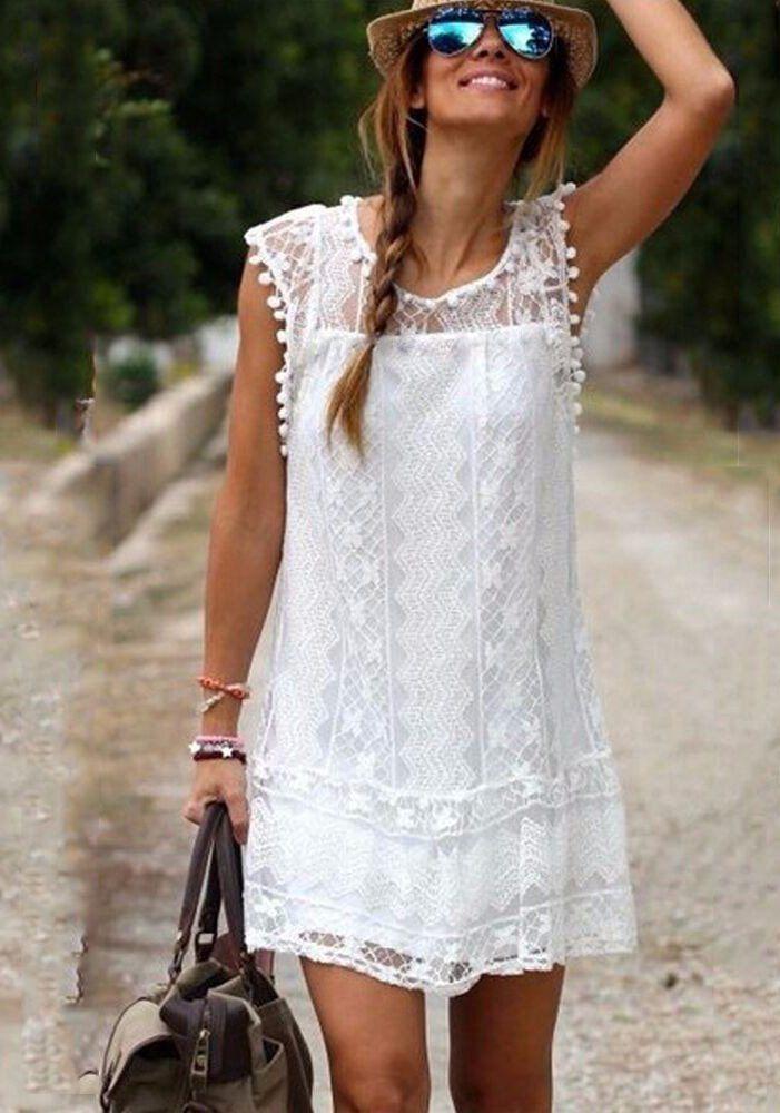Белое бохо, или Шикарная одежда для королевы летнего пляжа, фото № 93