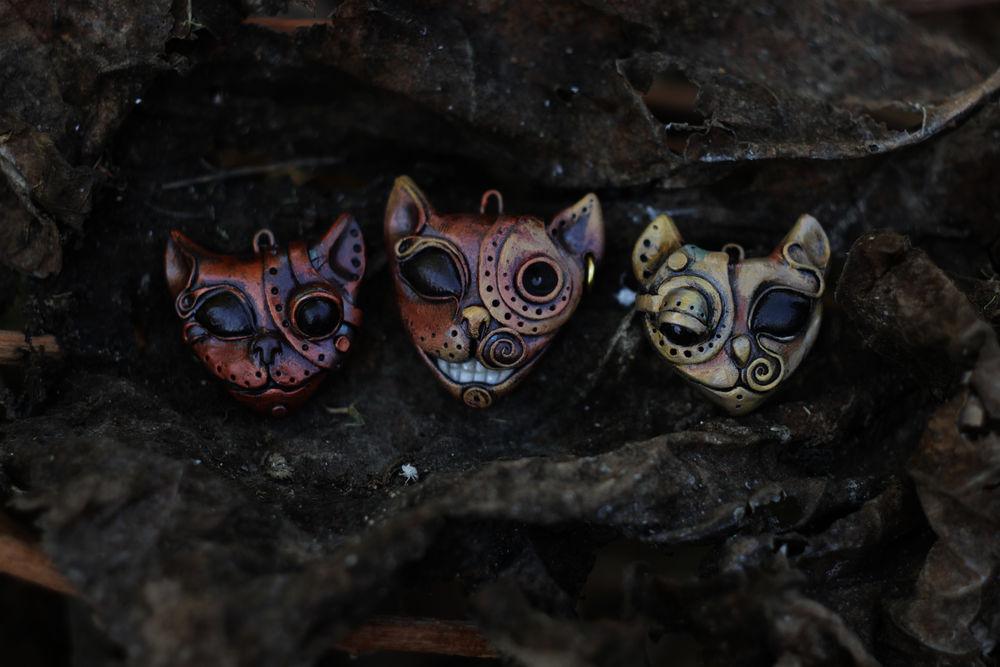 серьги коты