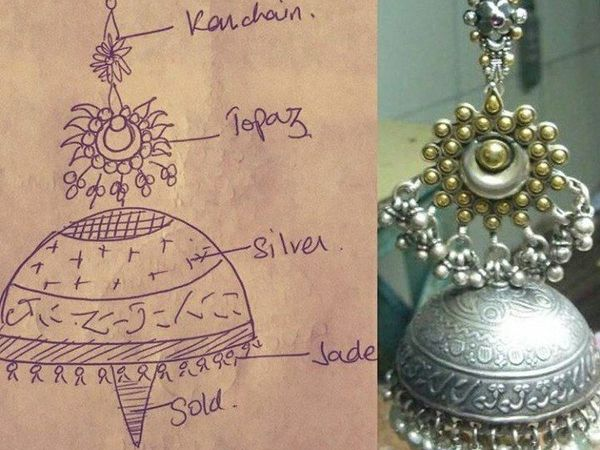 Джумки: от эскиза до готового изделия | Ярмарка Мастеров - ручная работа, handmade