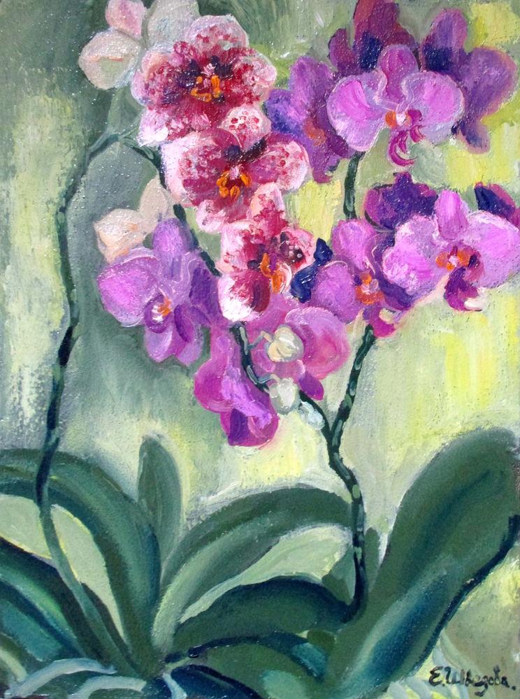 орхидея, красивая картина купить, ярмарка мастеров, картина в спальню
