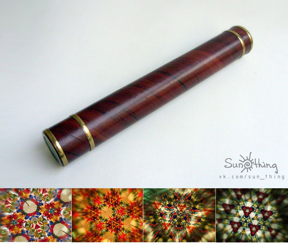 калейдоскоп, украшение из стекла, как сделать калейдоскоп