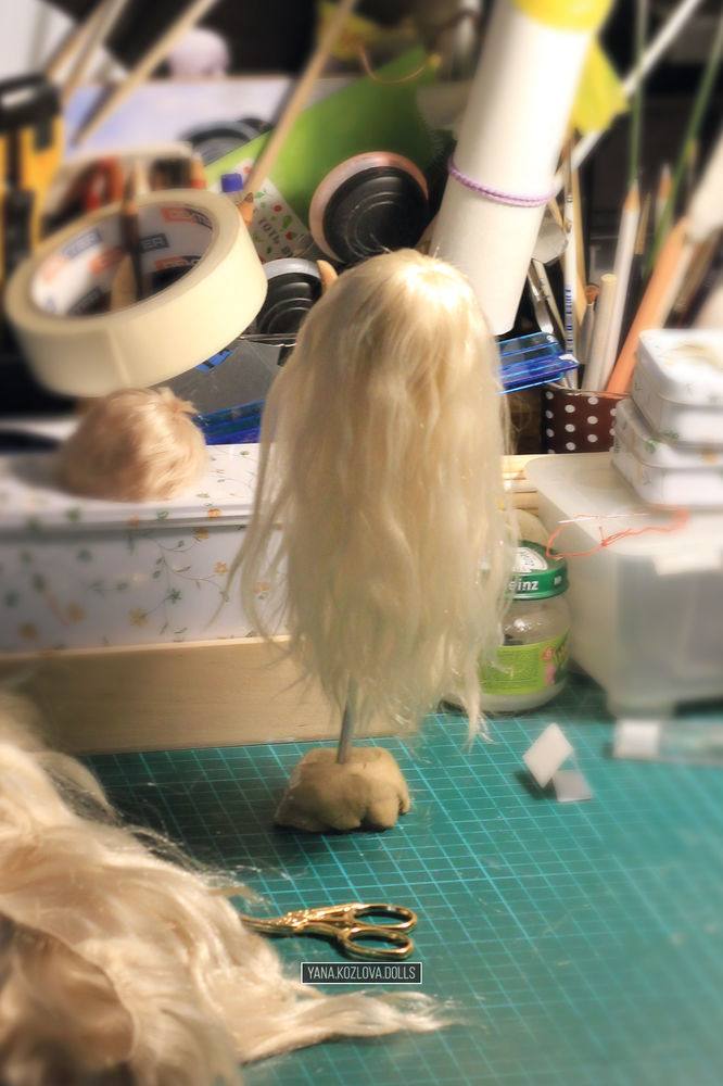паричок из козочки, коллекционная кукла