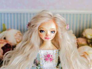 Изабэль авторская кукла, интерьерная коллекционная кукла. Ярмарка Мастеров - ручная работа, handmade.