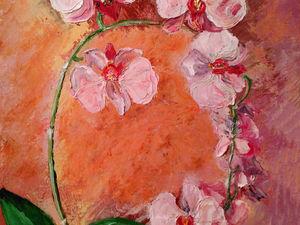 """Продажа картины маслом """"Орхидея"""" со скидкой!. Ярмарка Мастеров - ручная работа, handmade."""