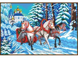 "Вышиваю ""Зимнюю тройку"". Процесс. Ярмарка Мастеров - ручная работа, handmade."