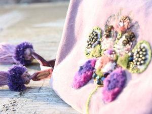 Мешочек для украшений с вышивкой. Ярмарка Мастеров - ручная работа, handmade.