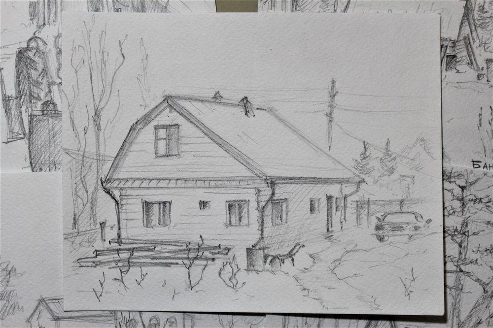 зарисовки, карандаш