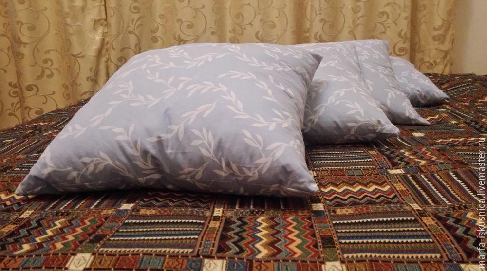 Как сделать подушку перьевую своими руками