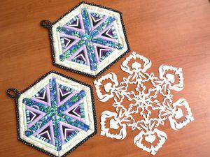 Прихватки-снежинки. Шьём подарок к Новому году. Ярмарка Мастеров - ручная работа, handmade.