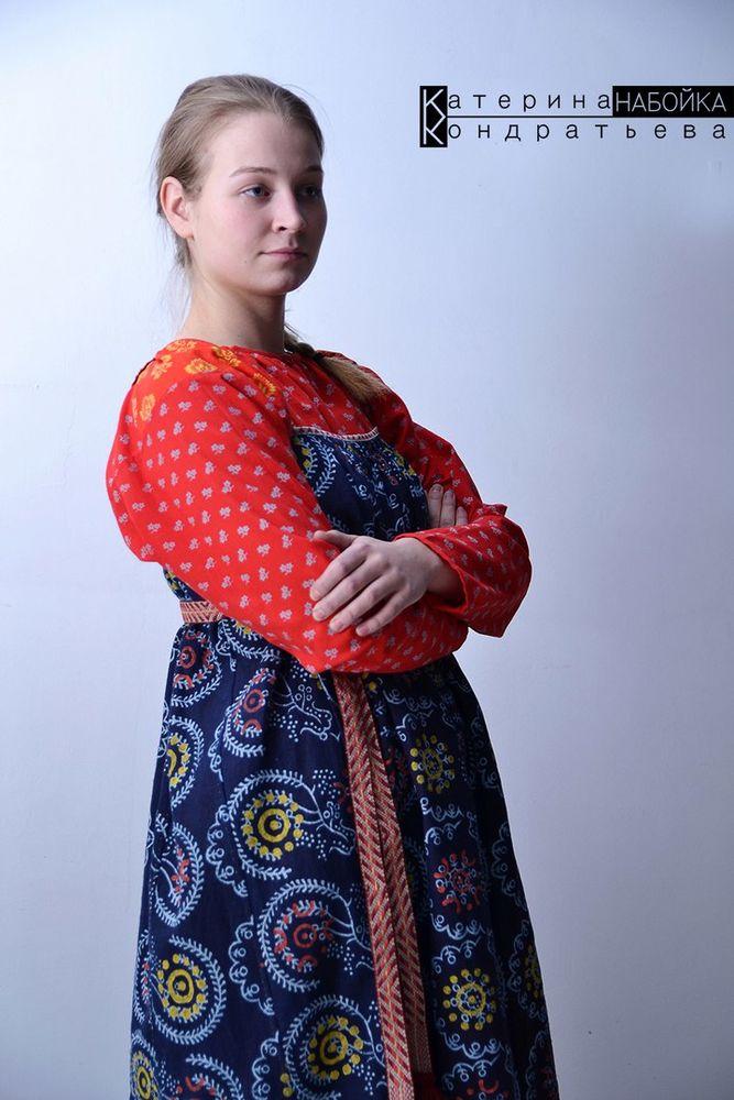 русская рубаха, лен, вытравная печать, традиционная рубаха