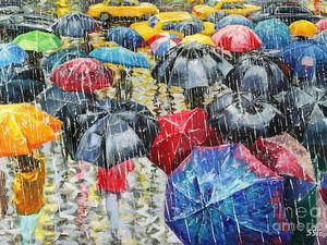 Художник, что рисует дождь... Теплая романтика неповторимых мгновений в работах Stanislav Sidorov и Jeff Rowland. Ярмарка Мастеров - ручная работа, handmade.