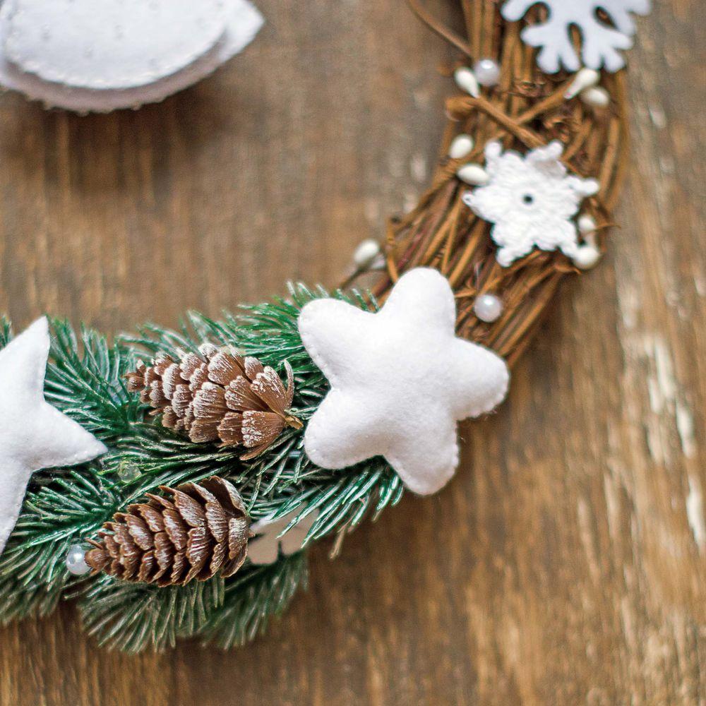 декор дома, из фетра, новогодние подарки