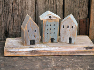 Опять все вместе, всем двором..)) Ещё один городок на дощечке.. Ярмарка Мастеров - ручная работа, handmade.
