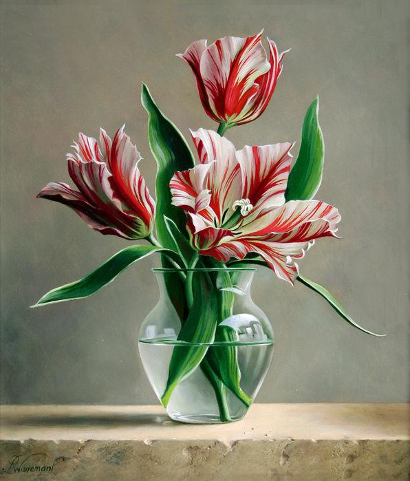 цветочные натюрморты Pieter Wagemans 2 (596x700, 556Kb)