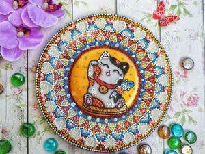 Обзор тарелки Манеки Неко. Ярмарка Мастеров - ручная работа, handmade.