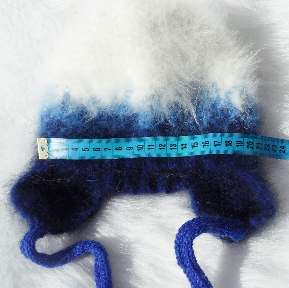 шапка зимняя вязаная, пуховая пряжа для спиц, теплая шапка вязаная
