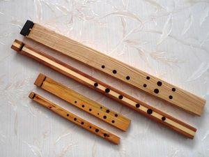 """Духовой """"оркестр"""" из вистлов """"с квадратным"""" стволом. Ярмарка Мастеров - ручная работа, handmade."""
