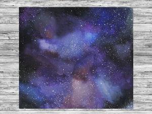 Рисуем космос с помощью губки: видео мастер-класс. Ярмарка Мастеров - ручная работа, handmade.