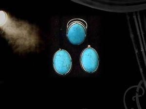 """Серьги и кольцо """"Театр"""" — комплекты из натуральных камней. Ярмарка Мастеров - ручная работа, handmade."""