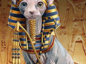 Необычная копилка Кошка-сфинкс. Ярмарка Мастеров - ручная работа, handmade.