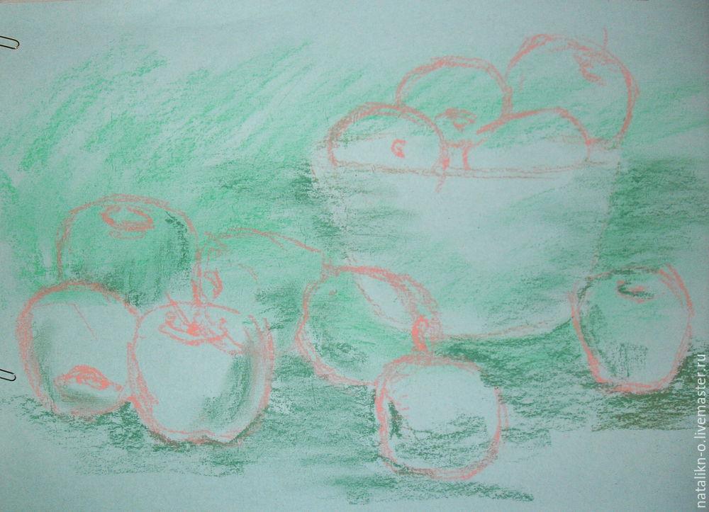рисование яблок