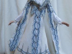 Декорируем кукольное платье кружевом. Ярмарка Мастеров - ручная работа, handmade.
