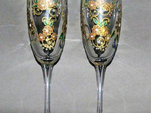 Аукцион на бокалы ручной росписи. Ярмарка Мастеров - ручная работа, handmade.