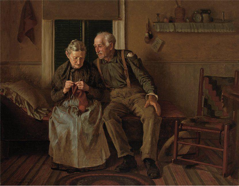Когда есть чем заняться — стареть некогда: душевные картины о бабушках-рукодельницах, фото № 62