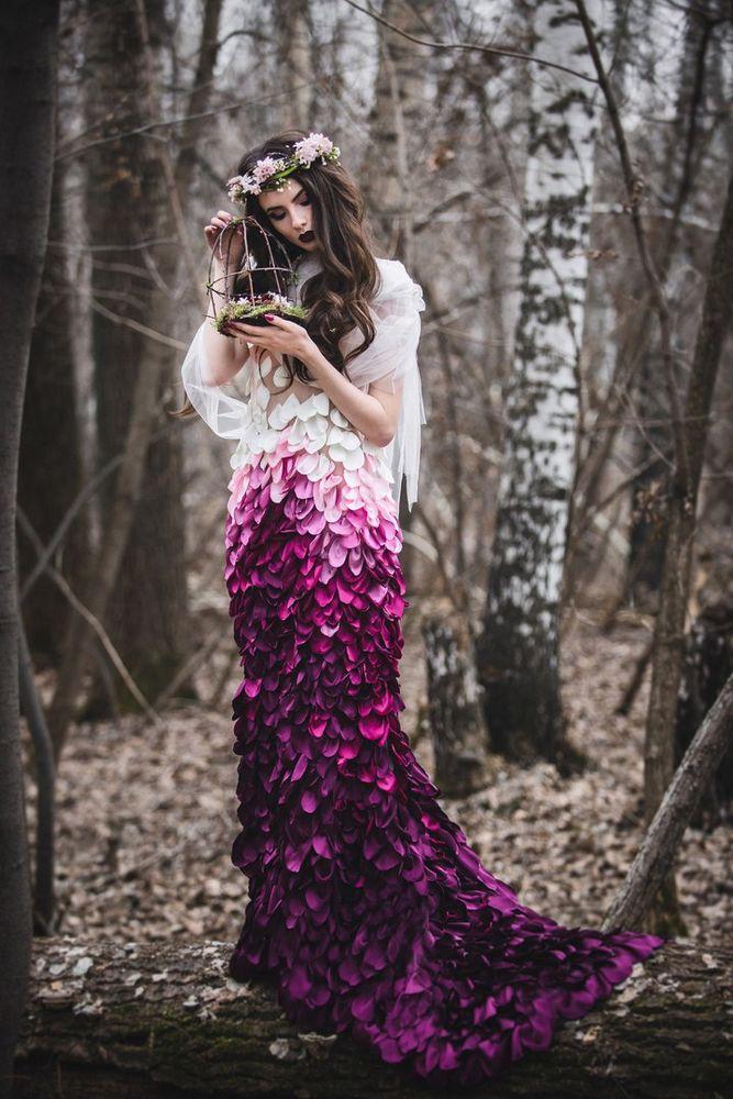 необычное платье, волшебное платье, необычная идея