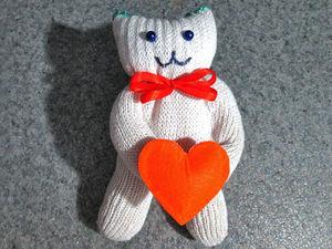 Делаем котика из перчатки: видео мастер-класс. Ярмарка Мастеров - ручная работа, handmade.