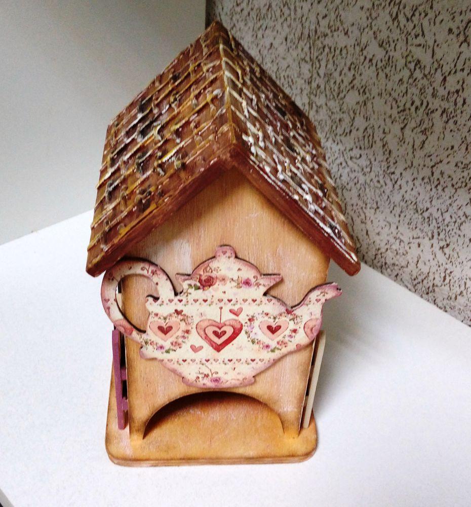 «УЮТНОЕ КАНТРИ» чайный домик с накладными элементами и «плетёной» крышей скидка!, фото № 7