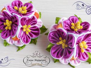 Видео мастер-класс: резиночки с цветами канзаши. Ярмарка Мастеров - ручная работа, handmade.