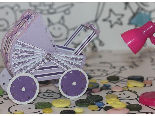 Коляска из бумаги (картона) / Stroller made of cardboard   Ярмарка Мастеров - ручная работа, handmade